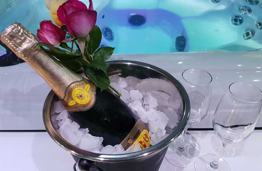 Jacuzzi-champagne !