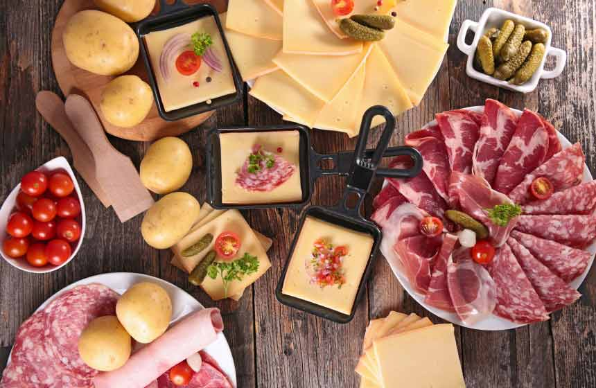 Hummm ! Une raclette-party !