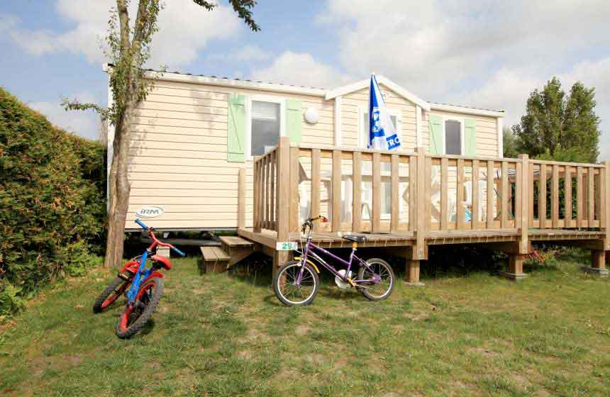 Camping Flower Les vertes feuilles - Mobilhome - Quend