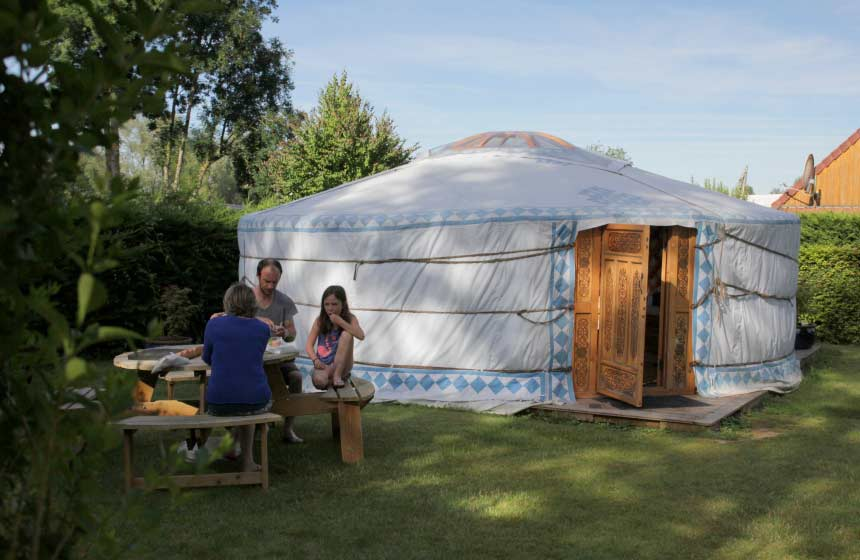 Yourte Camping des Puits Tournants à Sailly-le-Sec
